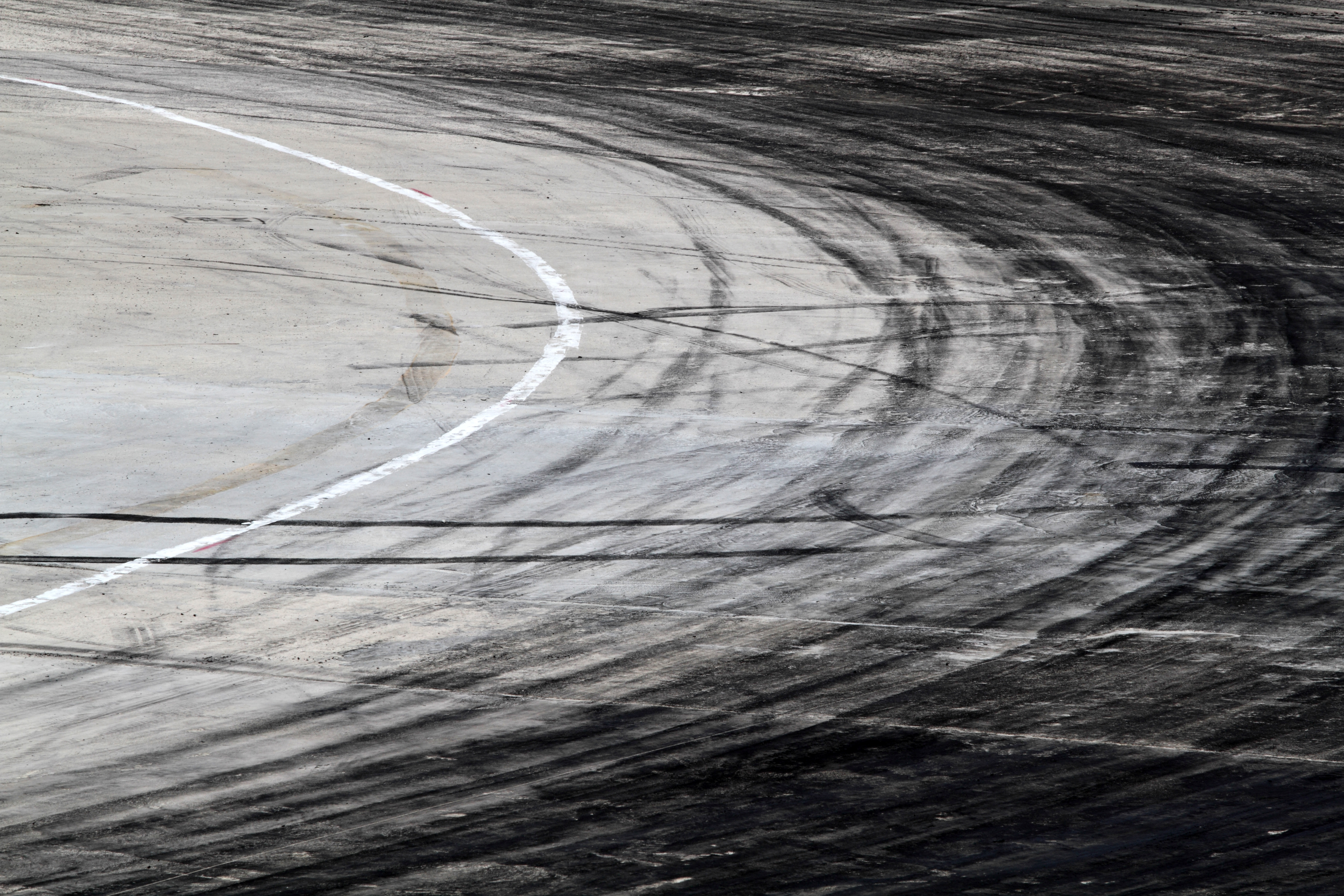 Rubber on racetrack
